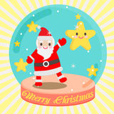 Santa  cute. Snowman winter snow christmas cartoon Royalty Free Stock Image