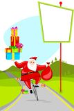 Santa on Cycle Royalty Free Stock Photos