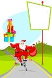 Santa on Cycle Royalty Free Stock Photos