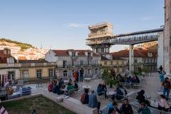Santa Dźwignięcie Justa, Lisbon, Portugalia Obrazy Royalty Free