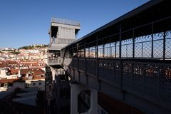 Santa Dźwignięcie Justa, Lisbon, Portugalia Zdjęcie Stock