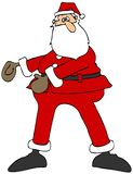 Santa dancing the floss vector illustration