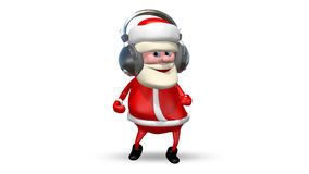 Santa Dancing in Headphones stock footage