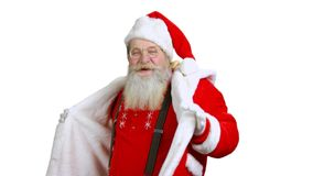 Santa dancing isolated. stock video footage