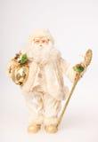 Santa dans la robe blanche Images libres de droits
