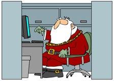 Santa dans le bureau illustration de vecteur