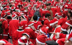 Santa day London- 21 December 2014 stock images
