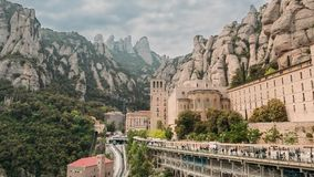 santa de Μαρία Μοντσερράτ Benedictine αβαείο στο βουνό του Μοντσερράτ, σε Monistrol de Μοντσερράτ, στην Καταλωνία, Ισπανία απόθεμα βίντεο