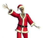 Santa de esqueleto amigável ilustração stock