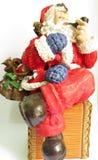 Santa de fumo Fotos de Stock Royalty Free