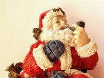 Santa de fumo Imagens de Stock Royalty Free