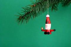 Santa de madeira fotografia de stock royalty free
