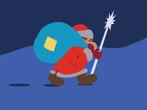 Santa de passeio ilustração royalty free