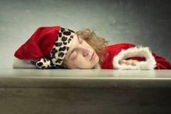 Santa de sono Fotografia de Stock
