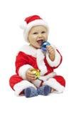 Santa de sorriso pequena Fotografia de Stock