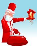 Santa decadente ilustração stock
