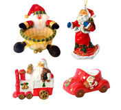 Santa decorations Stock Images