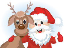 Santa with deer Royalty Free Stock Photography