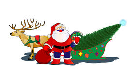 SANTA&deer Royalty Free Stock Images