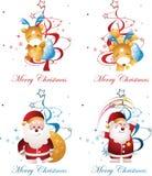 Santa and deer Stock Images