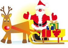 Santa with deer Royalty Free Stock Image
