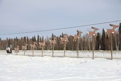 Santa and deer royalty free stock image