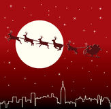 Santa and deers Stock Photography