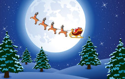 Santa and deers Royalty Free Stock Image