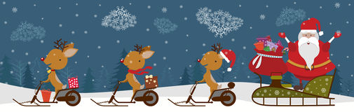 Santa with deers Stock Photography