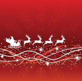 Santa and deers. Stock Images