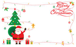 Santa, Dekoruje, rama & tło ilustracji