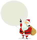 Santa Delivery - Speech Bubble Message Royalty Free Stock Image