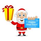 Santa deseja-lhe um ano novo feliz Foto de Stock Royalty Free