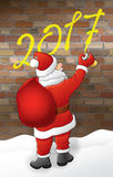 Santa dessine 2017 Photos libres de droits