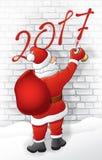Santa dessine 2017 illustration libre de droits