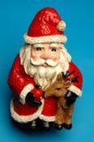 Santa di ceramica felice Fotografie Stock