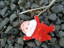 Santa died. An very old santa claus Christmas Royalty Free Stock Photography