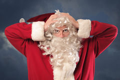 Santa disperata Fotografia Stock