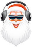 Santa DJ vektor illustrationer