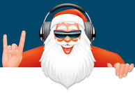 Santa dj banner Stock Photo