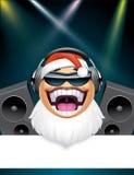 Santa dj character banner Stock Photography