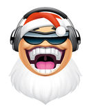 Santa dj character Stock Photography
