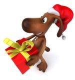 Santa dog Stock Photography