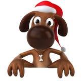 Santa dog Stock Images