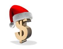 Santa Dollar Stock Photography
