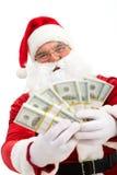 Santa with dollars Royalty Free Stock Photo