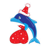 Santa dolphin Stock Photos