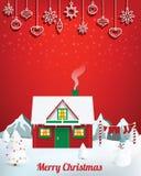 Santa dom royalty ilustracja