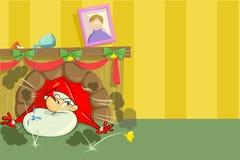 Santa drôle sur Noël Image stock