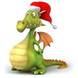 Santa dragon Stock Image